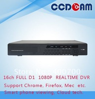 16ch full D1 H.264 compression with 16ch audio support 3G WIFI network surveillance DVR