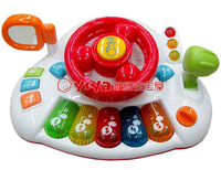 Multifunctional toys violin child piano educational electronic keyboard story telling artificial steering wheel toy car
