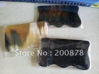 L045  Tibet natural Ox horn Square Guasha treatment,Skin scraping home treatment tools,Best offer mix order