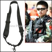 1 - Point Elastic Bungee Tactical Rifle Single Gun Sling for Outdoor Activities Army Uses (Black) Free Shipping SI282