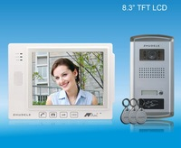 "2012 New white 8.3"" white video door phone ,ID card  unlocked ,nightvision,CCD camera ,"