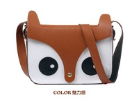 New Fashion! Ladies Vintage Little Fox Messenger Handbag Shoulder Bag PU Leather Handbags Wholesale