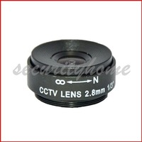 New F2.0 2.8mm CS Lens for CCTV Box Camera 110 Degree