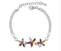 New 18K Gold Plated Multicolor Zircon Flower Bracelets Zircon Jewelry