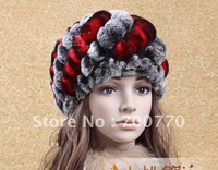 Rex Rabbit Fur Winter Hat 100% Handcrafted Ladies' Fashion Real Fur Winter Hat Wholesale/Retail/OEM  STY.NO.M0022-1