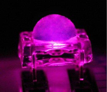 Round 5MM Superflux LED High Brightness Epistar Chip, Pink Color