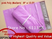 100PCS NEW  [PINK] COLOR POLY MAILERS ENVELOPE SHIPPING BAGS 8 x 13.5 Inch 200x340mm