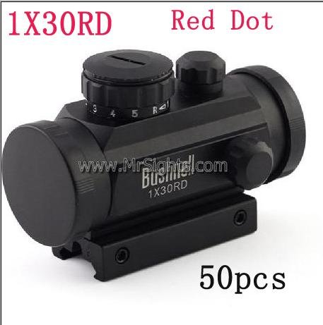 50pcs PRO Tactical 1x30 R&G Dot Sight Scope w/10mm-20mm Weaver Mount(China (Mainland))