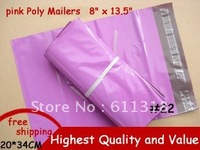 200PCS NEW 8 x 13.5 Inch 200x340mm [PINK] COLOR POLY MAILERS ENVELOPE SHIPPING BAGS