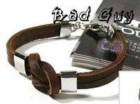 80% discount sl083 fashion knot bracelet for women,high quality cowhide,100% genuine leather bracelet,Punk Style,fashion jewelry
