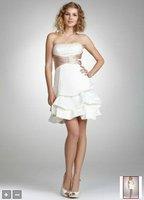 2012Short Satin and Taffeta Pick_Up Dress Style 597