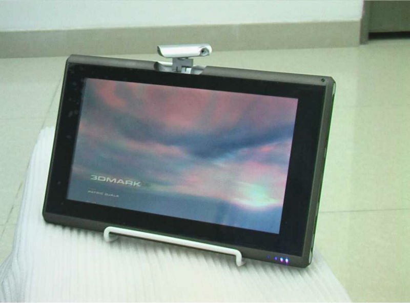 10.1 inch tablet PC intel Atom D2500 1.86GHz Dual-core Memory 2G HDD 500GB windons7 OS laptop with 320 degree rotating camera(China (Mainland))