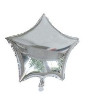 18-inch silver five-pointed star-shaped foil balloon decoration balloon 20.