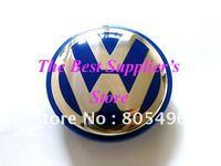 5pcs Top Quality VOLKSWAGEN VW 3D Chrome Badge Blue Wheel Center Cap GOLF JETTA PASSAT LUPO POLO 65MM
