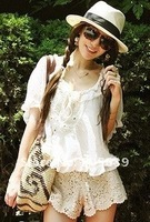 free shipping 2012 New Sexy Fashion Girls Lace Tiered Short Skirt Under Safety Pants Shorts women short pants lady's 3 of pants