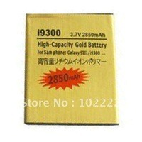 Gold 2850mAh High Capacity Battery For Samsung Galaxy S3 i9300, 50pcs/lot, EMS Free Shipping