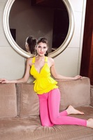 Crazy Promotion! Sexy T Shirt, Fashion Top, Yellow Tees, One size, 25018