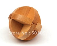 Free shipping of Spheroid I Wood Construction Puzzle Toy Brain Teaser