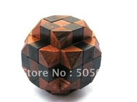 Free shipping of Cross Box Wood Construction Puzzle Wooden Brain Teaser