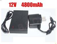 DHL   shipping     100pcs/lot   DC 12V 4800mah Rechargeable Li-ion Lithium Battery for CCTV camera