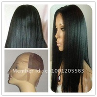 Парик Human hair lace front cap lace Front wig Brazilian Kinky curl 100% Indian Remy HUMAN HAIR Lace wigs #1b