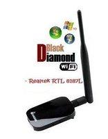 ADAPTADOR DE RED WIFI DIAMOND BDU-206G 802.11b/g 54Mbps 1000mW SMA 6dBi RTL8187L