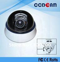 High resolution 600TVL plastic dome with 4-9mm  autoiris lens indoor CCTV Camera.