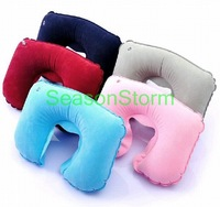 Fedex Free Shipping Wholesale Travel Set Inflatable Neck Air Cushion Pillow G223