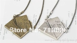 Min.order is $15 Free airmail shipping I LOVE YOU Envelope Necklace Pedant N86(China (Mainland))