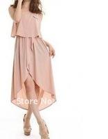 Two-piece dress skirt irregular back A504