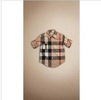 Hotsale fashion check longsleeve classic boy shirts autumn kids shirt 6pcs/lot freeshiping