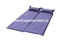 Blue nine holes inflatable mat