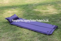 Blue foldable inflatable mat
