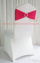 Free shipping Spandex chair band with buckle/ spandex sash/Lycra chair band withbuckle/chair sash/chair cover(China (Mainland))