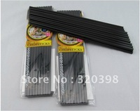 100 Pairs Melamine Black Chopsticks  Restaurant Chopsticks Anti-Slip KT005K03