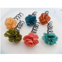 free shipping(  30pcs/lot)Hair Accessories , plate made of tool. spiral spin  hair bob. Multilayer flowers spiral folder