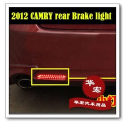 Free shipping,2009-2012TOYOTA camry brake LED lights,stop taillights,rear lamps,auto car products,accessory,parts,red and white(China (Mainland))