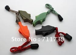 50pc High quality Outdoor /Referee survival whistle Dolphins modelling life-saving Whistle Free shipping(China (Mainland))