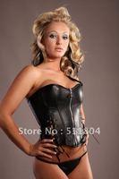 Женский эротический костюм S - XXL Black Sexy Strap PU Leather Minidress, Zipper Front Spicy Party Costume, Shiny Clubwear Novelty Dress Retail, A 8200