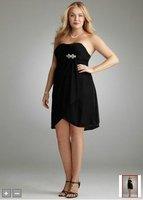 2012Short Strapless Knit Mesh Dress Style 84344W
