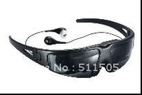 Free shipping ! Portable 52' Video Glasses connect with iphone , ipad , DVD , TV ,mp4 ,mp5