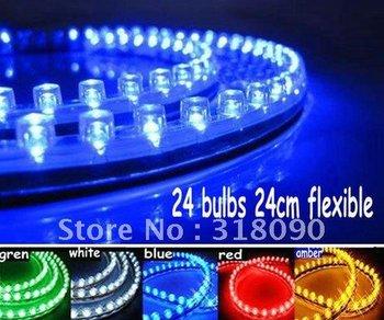 20PCS  Waterproof  flexible Led Decorative PVC 24cm Neon Strip Light blue color