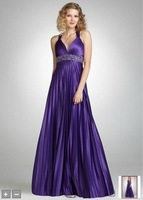 2012Silky Knit Pleated Dress with Beaded Midruff Style 3670SK8N