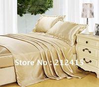 Free shipping/Free DHL EMS TNT/4pcs luxurious Silk bedding set/king queen Full Twin /ls2101