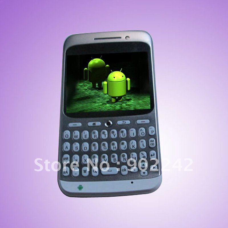"Qwerty keyboard Android 2.4""touch sceen,GPS,quandband for A8,Dual sim smart phone TV YHT-012(China (Mainland))"