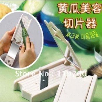 50pcs/lot EMS free shipping Cucumber Beauty Slicer beauty tool DIY cucumber slice mask tool