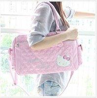 free shipping New Cute pink Hello Kitty handbag Messenger bag D05
