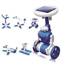 Free Shipping Fashion Solar Robots,6 In 1 Educational DIY Solar Kits,Solar Toys,Christmas Gifts(China (Mainland))