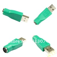 high quality! low price! USB to PS2 PS/2 Connector ps/2 Adapter for Computer Keyboard 100pcs/lot free fast shipping