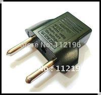 Wholesale 1000pcs/lot EU power Plug Adapter travel adapter US TO EURO EU Travel Charger Plug Adapter free shipping